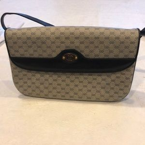 Gucci Navy Vintage Micro GG should Strap handbag